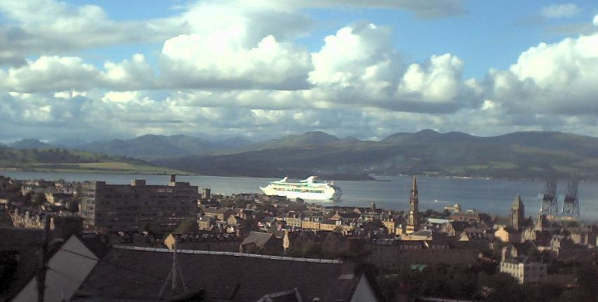 A Cruise Liner at Dock in Greenock